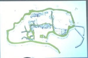 Slide con la planimetria del sito israeliano di El-Ahwat