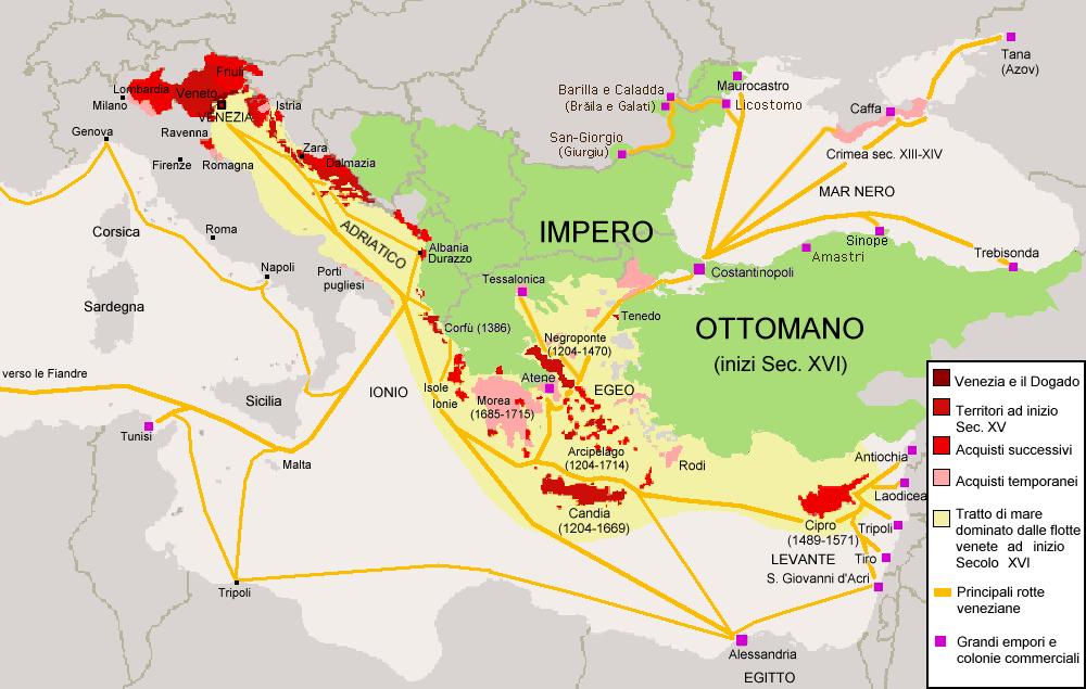 Rotte Repubblica di Venezia - Malvasia di Bosa