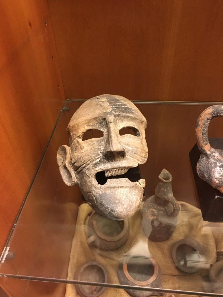 Maschera punica apotropaica proveniente da Tharros all'Antiquarium Arborense