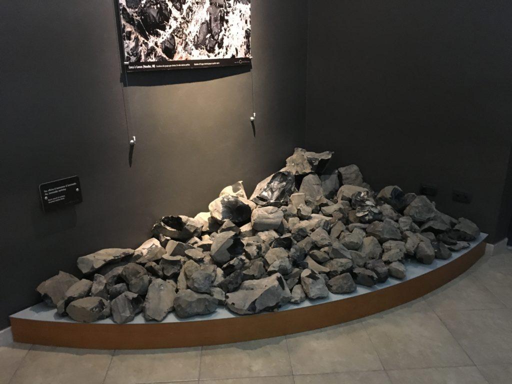 Ossidiana di Sennixeddu al Museo dell'Ossidiana di Pau