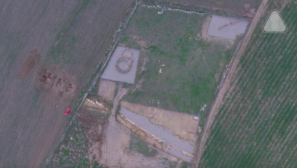 Vista aerea di Mont'e Prama