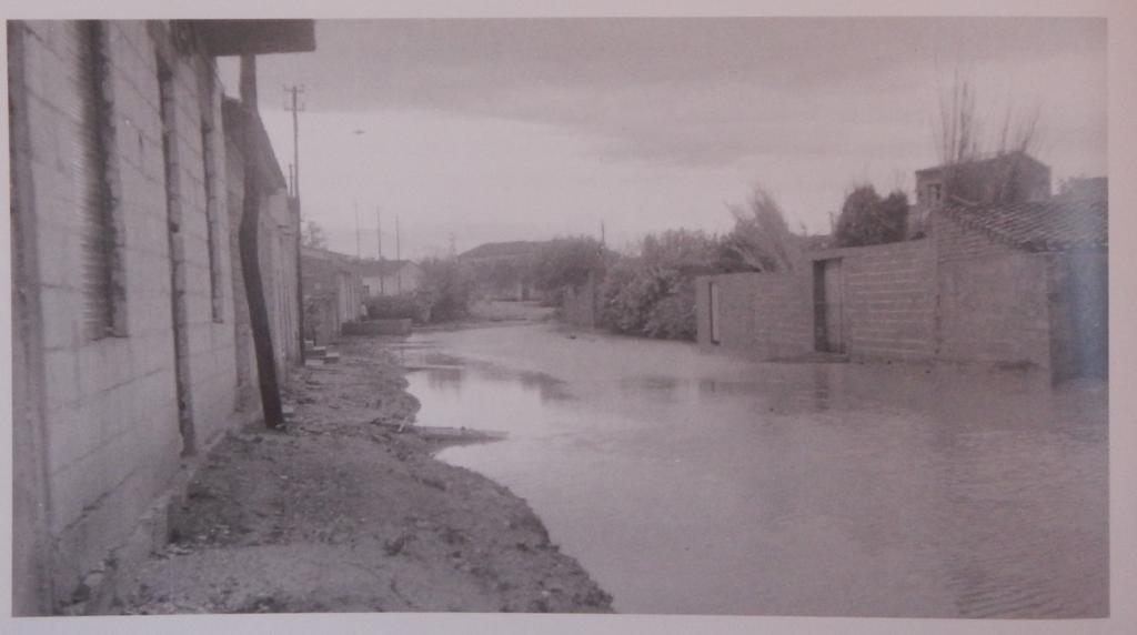 Il paese di Solarussa colpito da un'esondazione del fiume Tirso