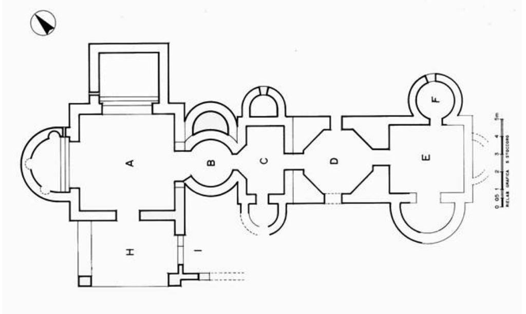Planimetria terme di Dom'e Cubas