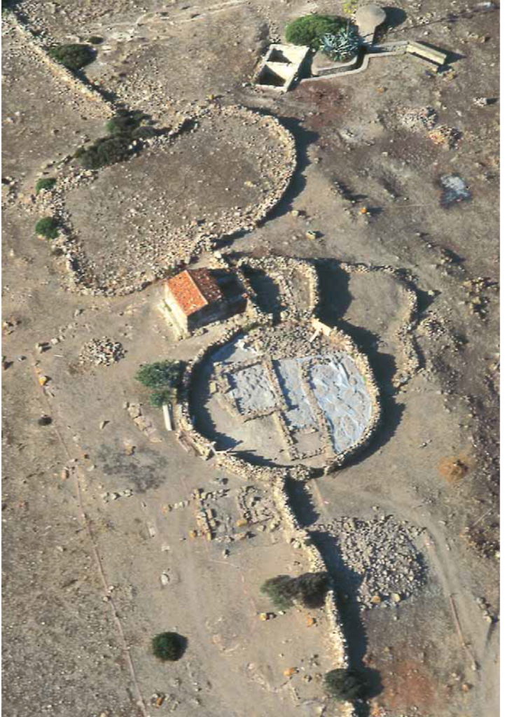 Vista aerea di una parte dello scavo del 1995 di S'Abba Druche