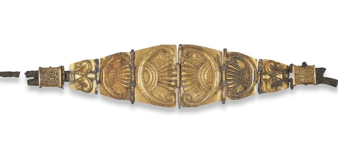 Bracciale d'oro o diadema proveniente dalle necropolidi Tharros e custodito al British Museum di Londra