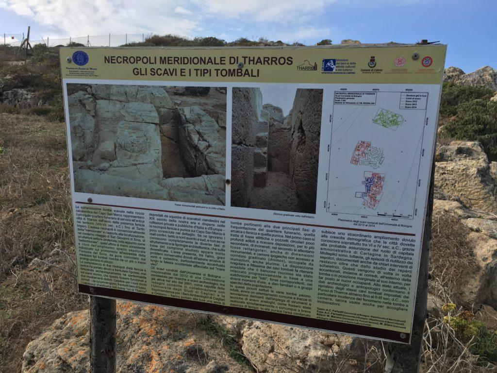 Pannello della necropoli meridionale di Tharros