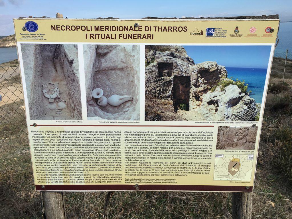 Pannello della necropoli meridionale