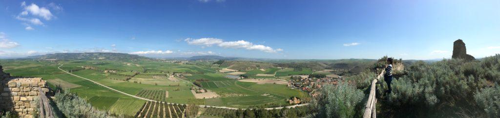 Panoramica Las Plassas dal castello
