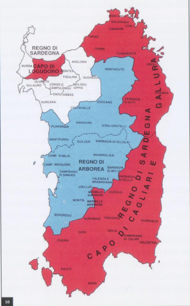 Regni di Arborea e Sardegna nel 1300