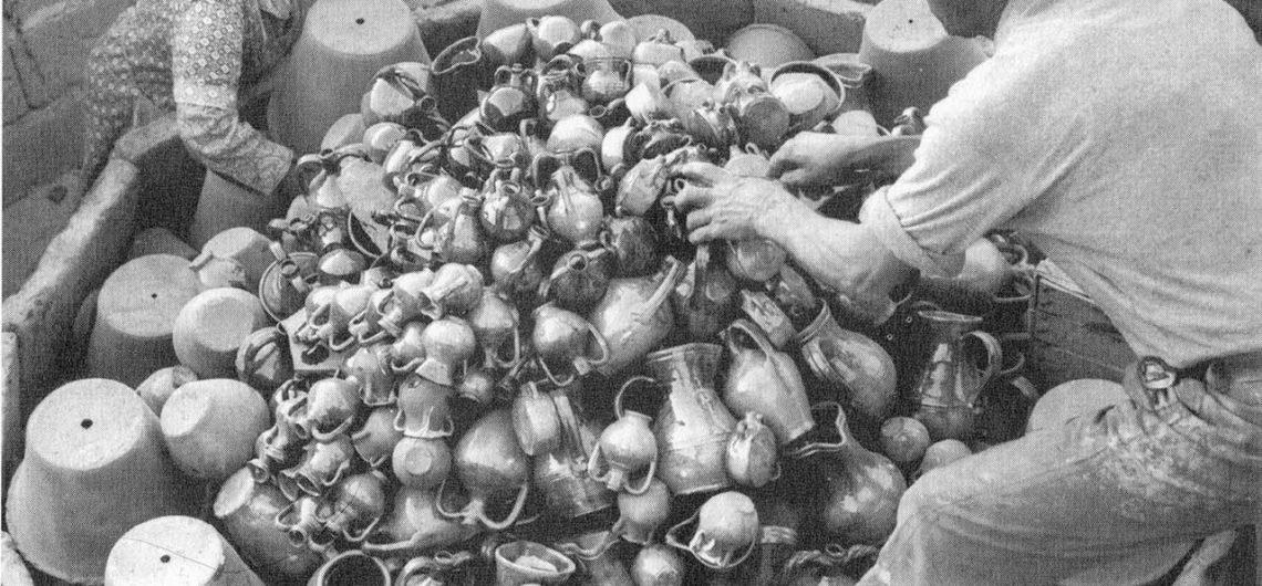 Particolare del carico, laboratorio di Carmine Incani, anno 1978 (fonte: Oristano, la storia e le immagini)