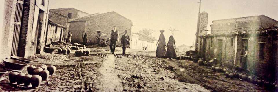 Foto di via Figoli a Oristano, agli inizi del 1900