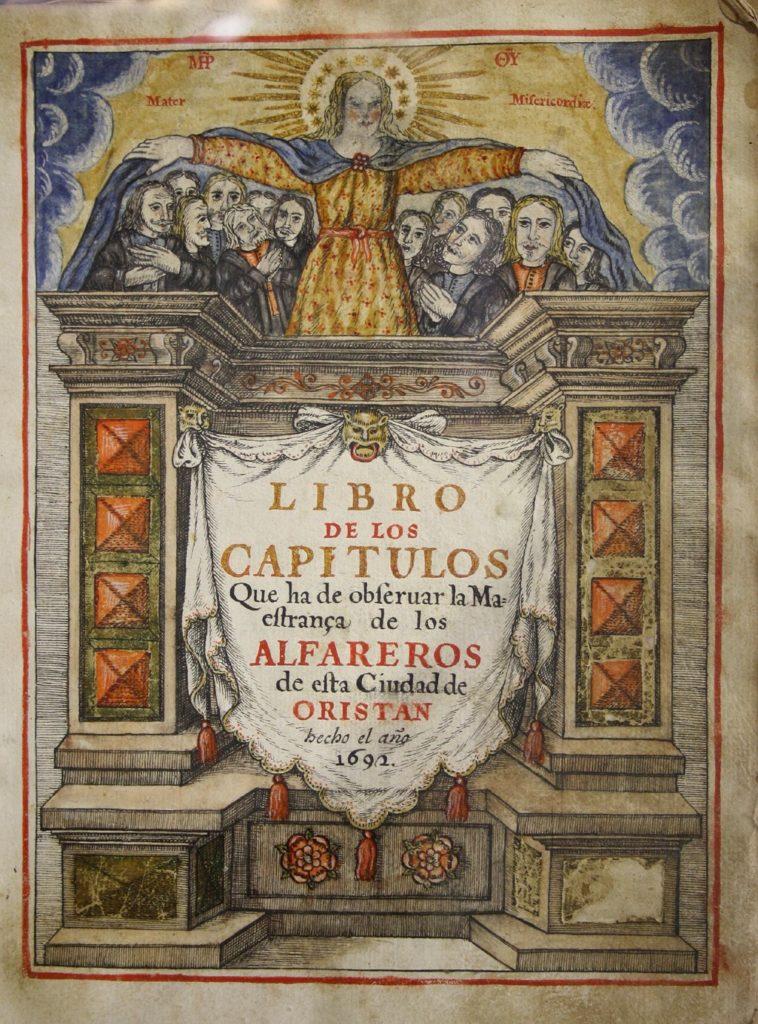"""Statuto dei figoli (""""alfareros"""") di Oristano, anno 1692 (fonte: Il MuseoOristano.it)"""