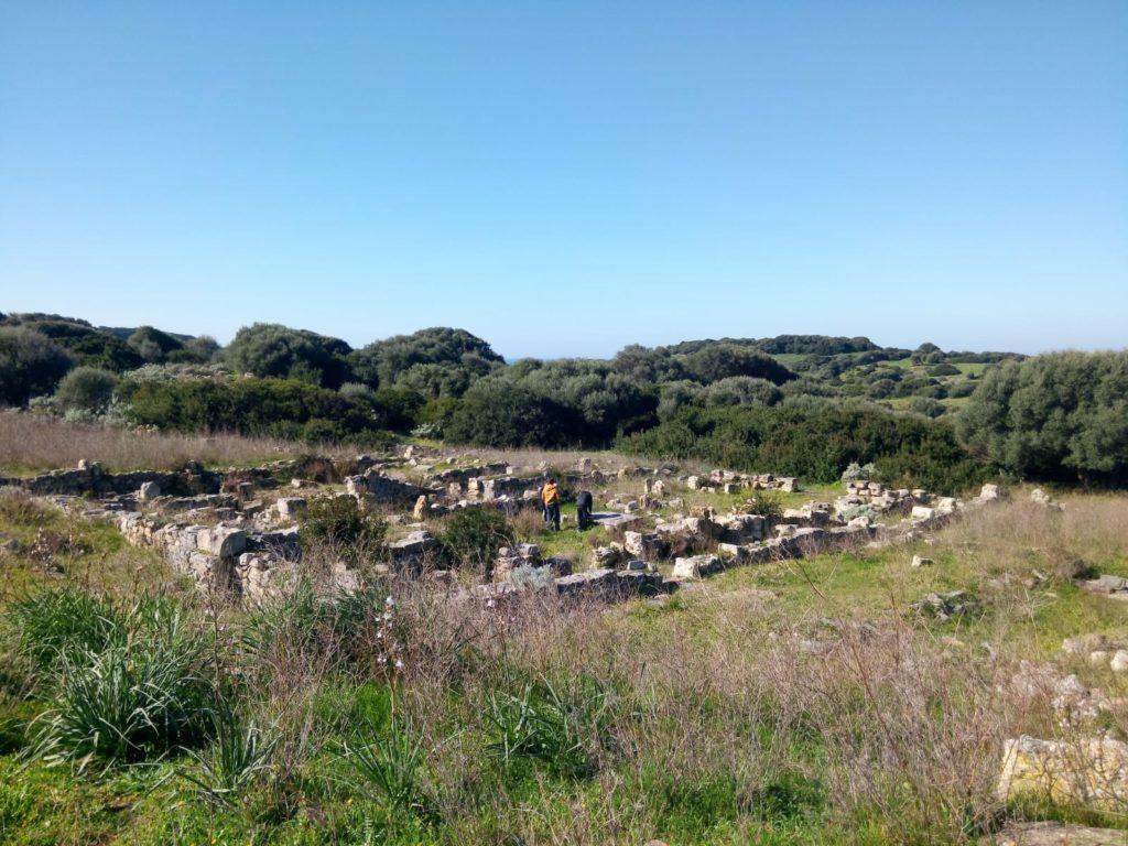 Vista del complesso archeologico di Cornus Columbaris