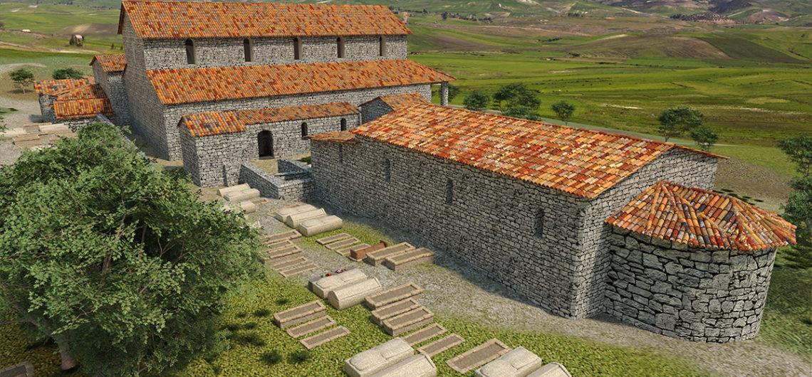 4. Ipotesi ricostruttiva basiliche di Cornus (Patrimonio Culturale Sardegna Virtual Archaeology)