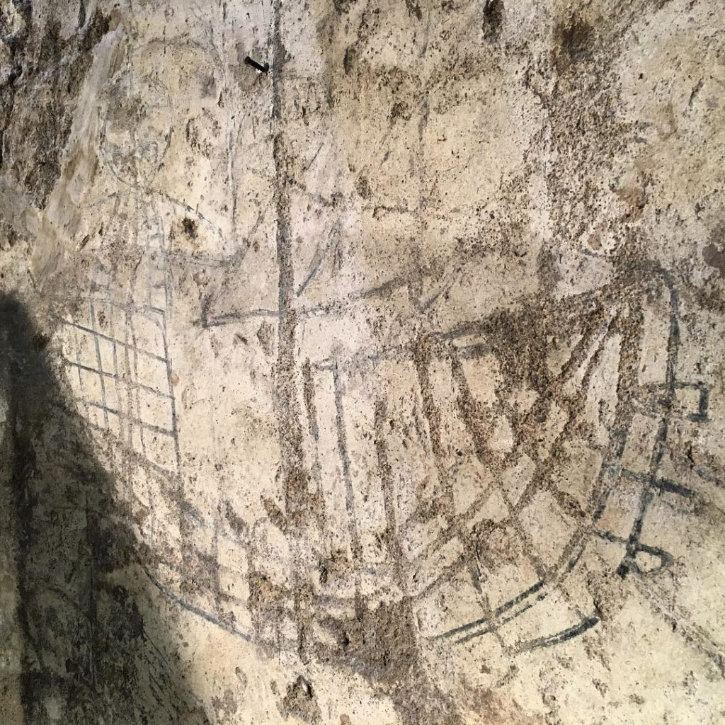 Riproduzione di un'ipotetica caracca spagnola all'interno del vano inferiore della Gran Torre (foto Mare Calmo).