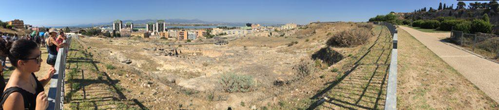 Panoramica della necropoli di Tuvixeddu a Cagliari