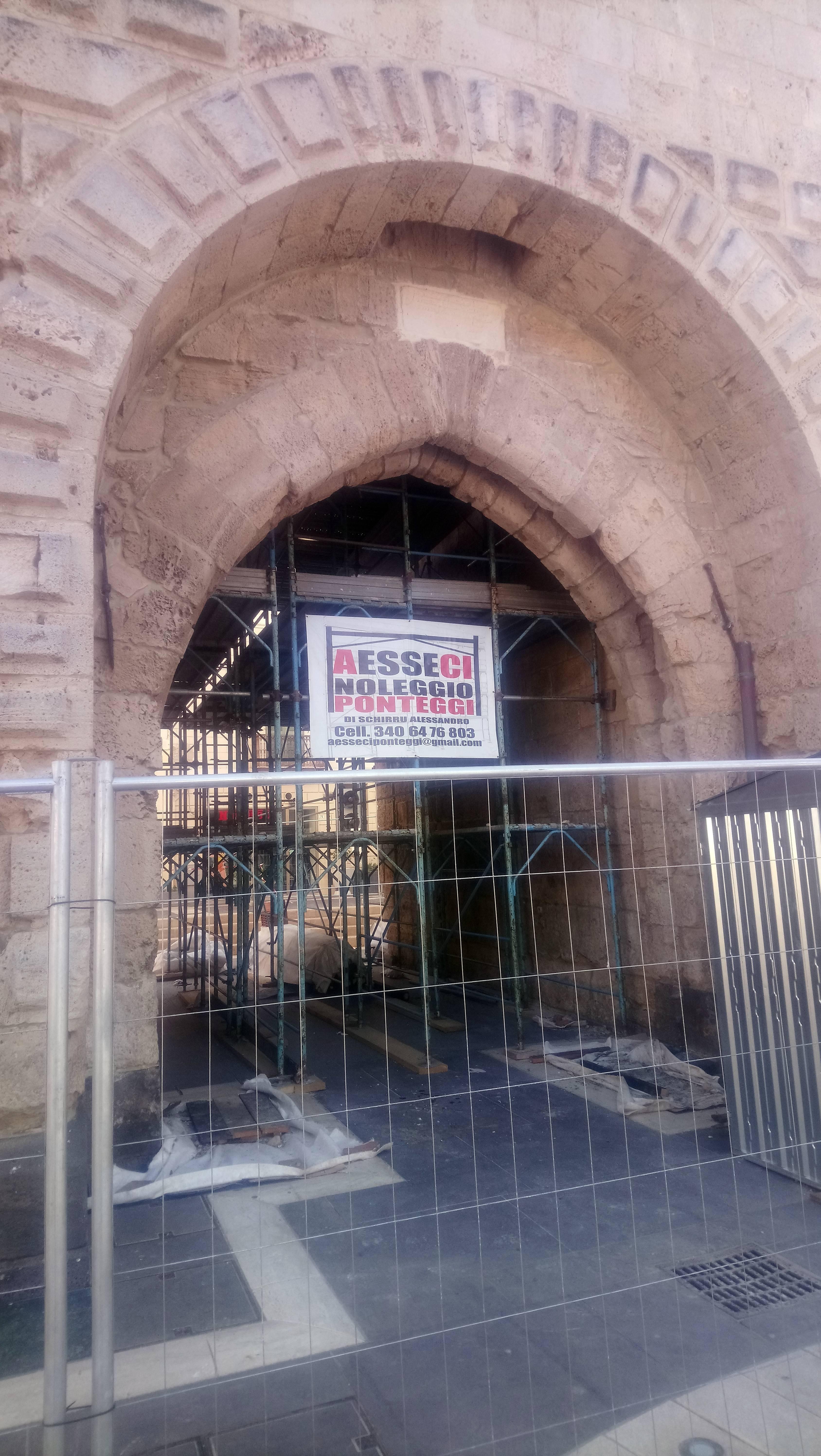 Torre di Mariano II - Restauro 2020 - Dettaglio ponteggi