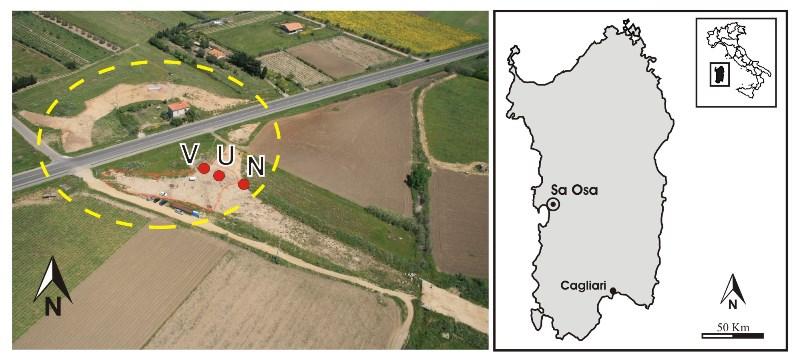 Localizzazione del sito di Sa Osa (fonte: Università di Cagliari)