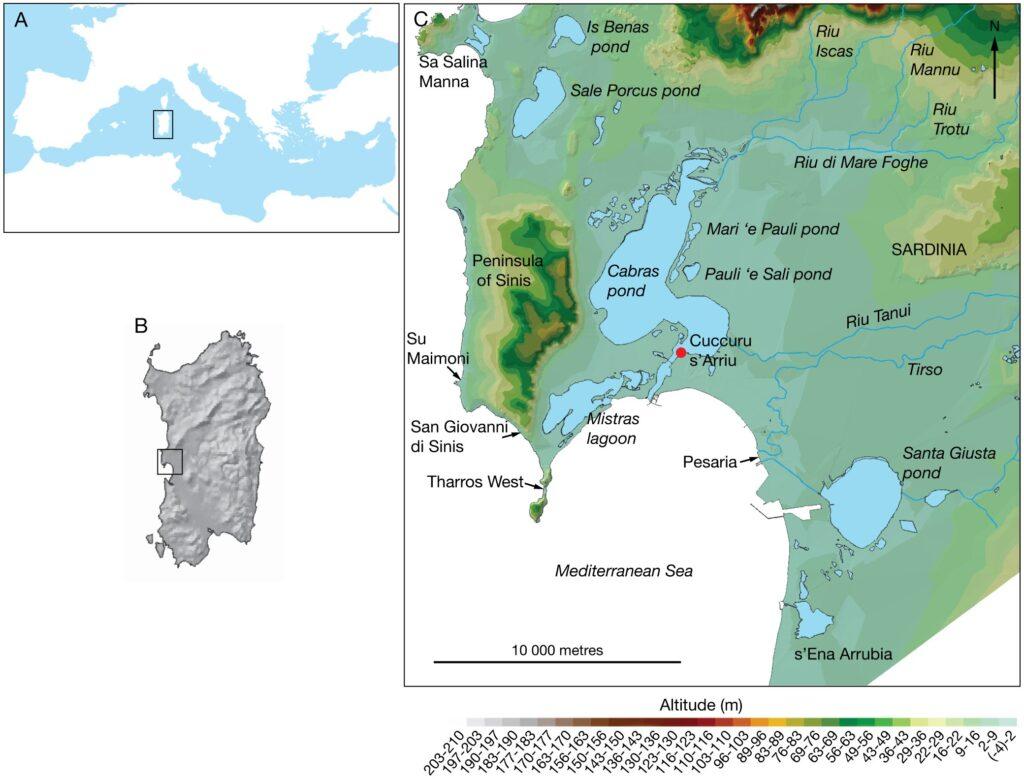 Localizzazione di Cuccuru is Arrius (fonte: Laura Manca)
