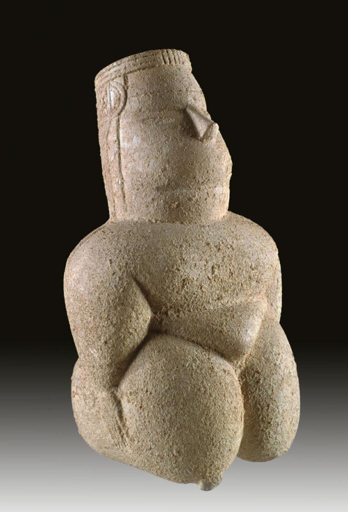Statuetta femminile rinvenuta nella tomba 386 (fonte Museo di Cabras)