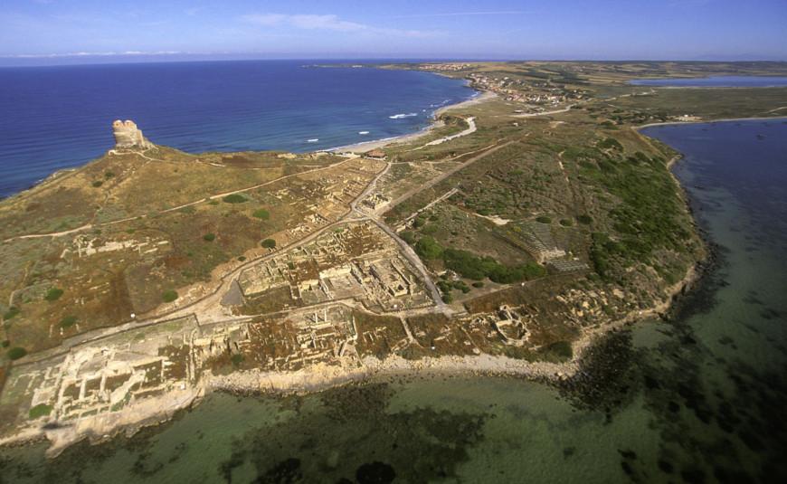 Veduta aerea di Tharros (fonte: Tharros Sardegna)